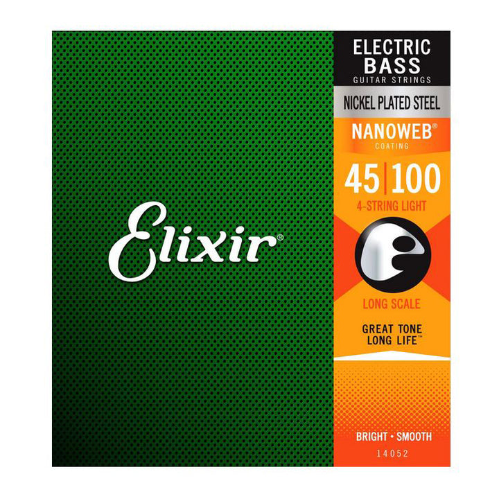 Elixir 14052 NanoWeb Bass Guitar Strings Soft / long .045