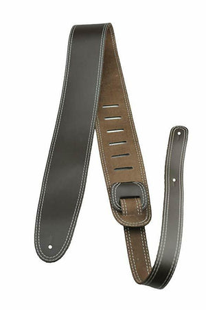 Perri's P25SMS-1719 Brown Leather Guitar Strap