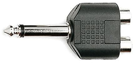"Kirlin 2657 1/4"" Male to Dual RCA Female Adapter"