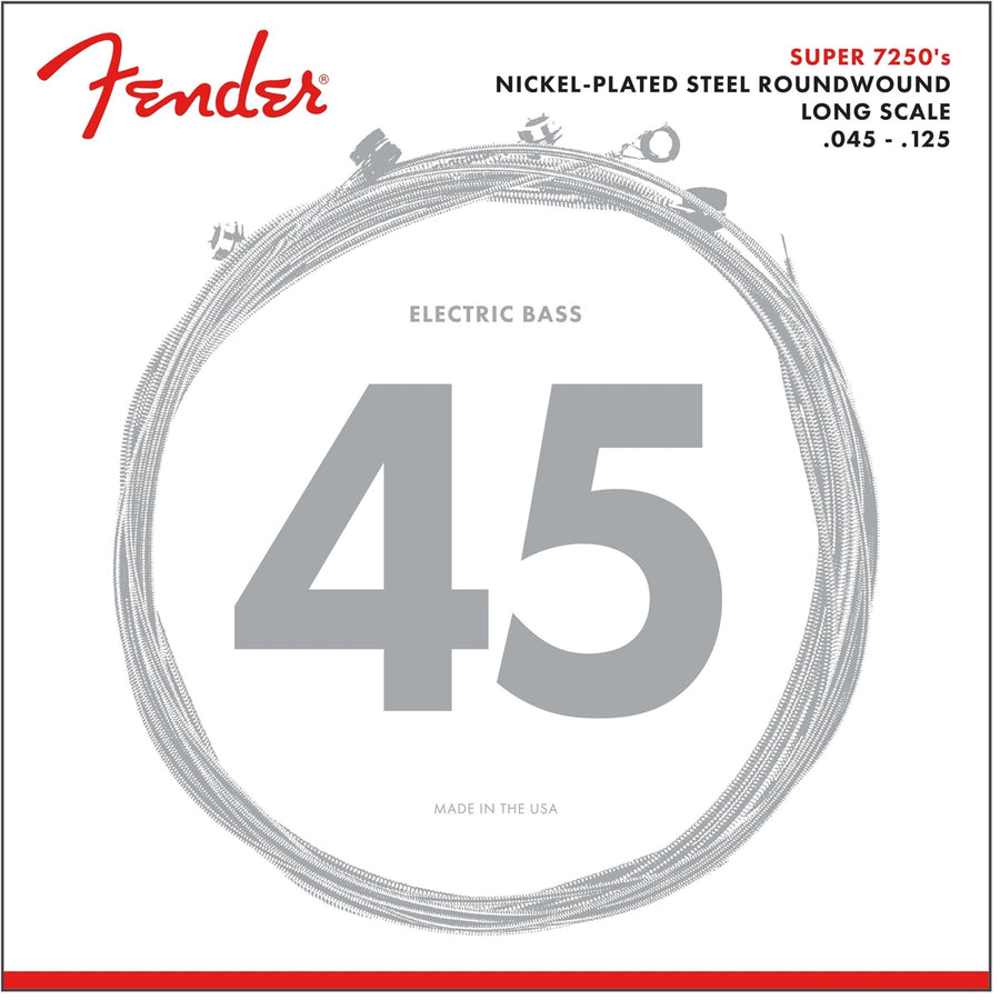 Fender Super 7250's Nickle Plated Steel Wound Bass Strings (5-String)