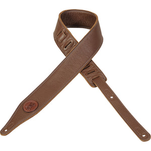 Levy's M17SS-BRN Leather Guitar Strap
