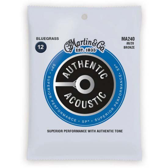 Martin Bluegrass Authentic Acoustic Guitar Strings MA240