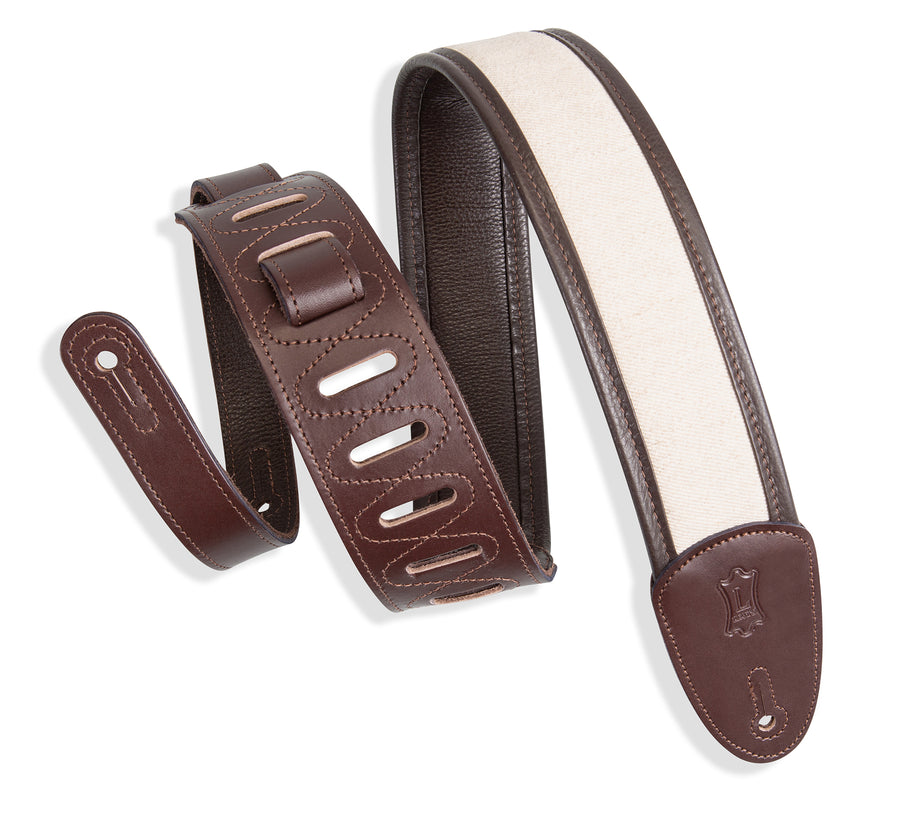 Levy's MHG2-DBR Leather Guitar Strap