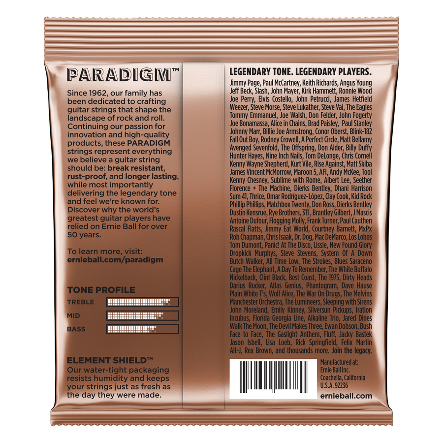 Ernie Ball Paradigm Phosphor Bronze Acoustic Guitar Strings