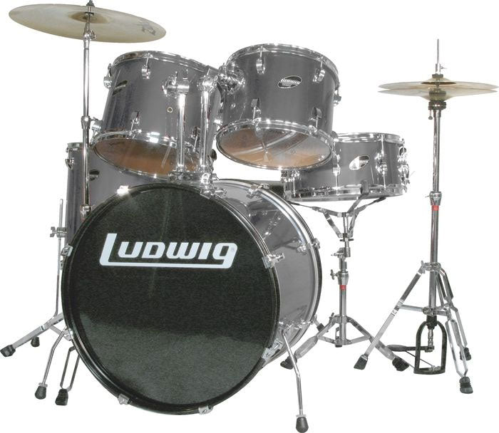 Ludwig Accent Combo 5-piece Drum Set Silver