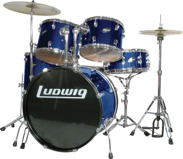 Ludwig Accent Combo 5-piece Drum Set Blue