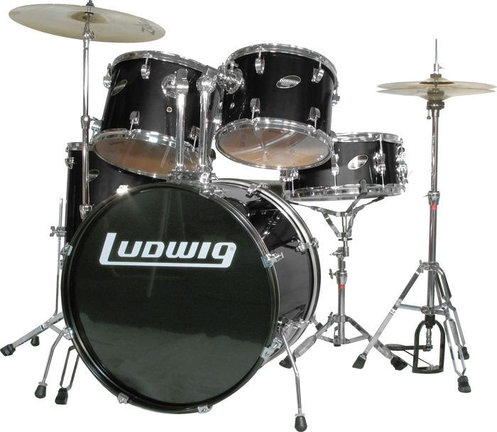 Ludwig Accent Combo 5-piece Drum Set Black