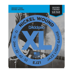 D'Addario XL Electric Guitar Strings EJ21 Jazz Light Gauge
