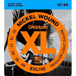 D'Addario XL Electric Guitar Strings EXL110 Regular Light Gauge