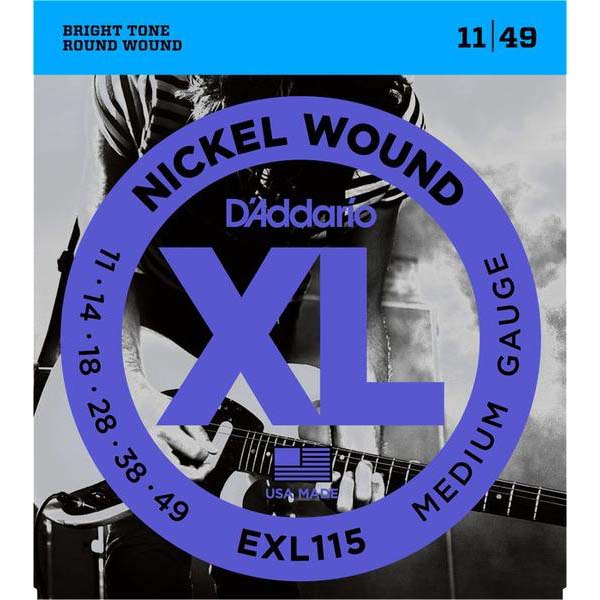 D'Addario XL Electric Guitar Strings EXL115