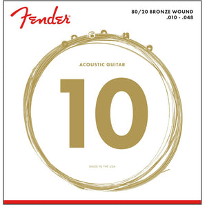Fender 80/20 Bronze Acoustic Guitar Strings