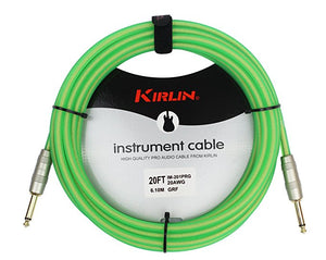 Kirlin IM-201PRG/GRF 20' Green Instrument Cable