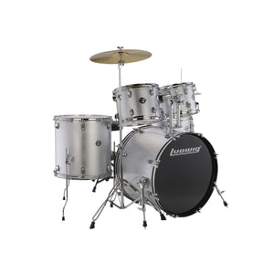 Ludwig Accent Fuse 5-Piece Silver Drum Kit
