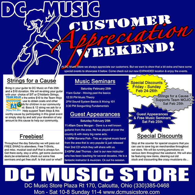 Customer Appreciation Weekend at DC Music store
