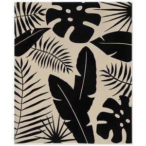 Tropical Black & Tan Fleece Blanket
