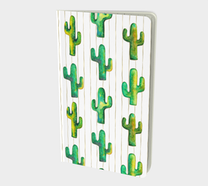 southwest style notebook with cactus pattern