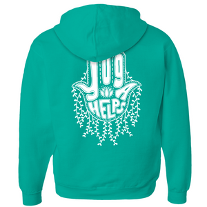Yoga Helps Hamsa Hand Zip-Up Hoodie