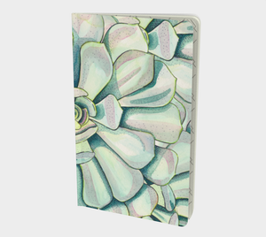 Notebook with succulent watercolor design