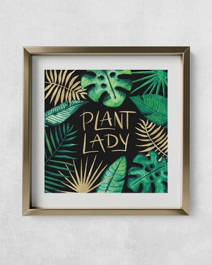 Tropical Plant Lady Art Print