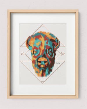 Southwest Bison Art Print