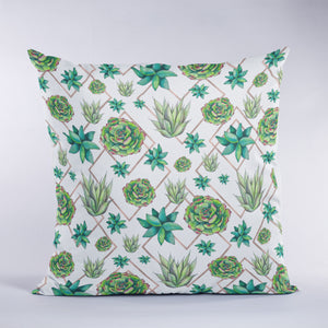 Succulent Trio Throw Pillow
