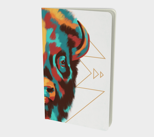 Southwest notebook with bison illustration