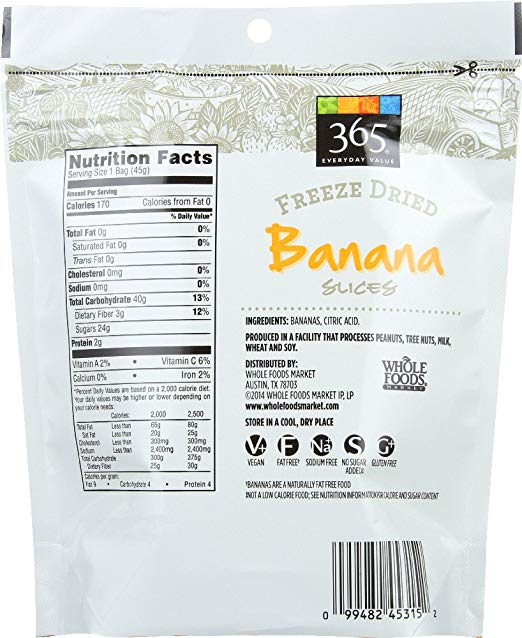 Freeze Dried Banana 365 Everyday Value - Lagos Groceries
