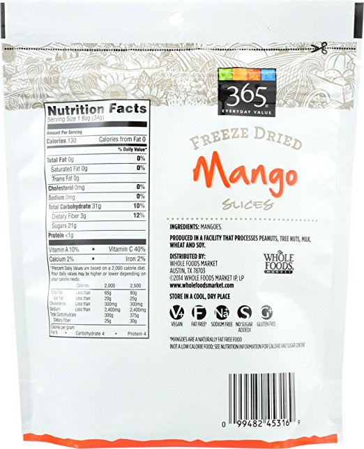 Freeze Dried Mango 365 Everyday Value - Lagos Groceries