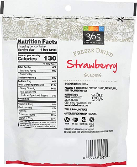 Freeze Dried Strawberry 365 Everyday Value - Lagos Groceries