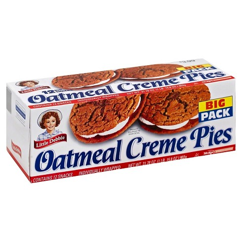 Little Debbie Oatmeal Creme Pies 12 Count - Lagos Groceries