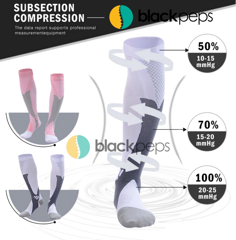 Blackpeps - 01 Pair Compression Socks 20-30 mmHg - blackpeps LTD