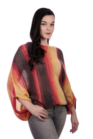 SUNSET BAT-WING SWEATER