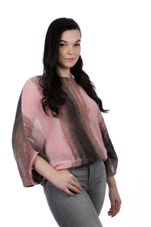 PINK BAT-WING SWEATER