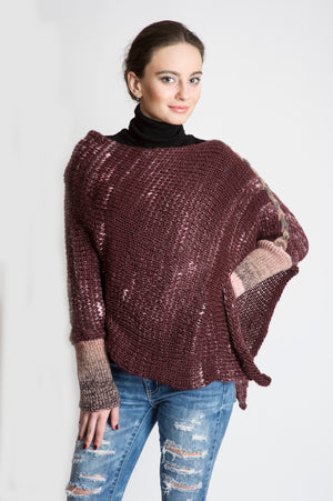 PONCHO – SWEATER CHERRY MIX