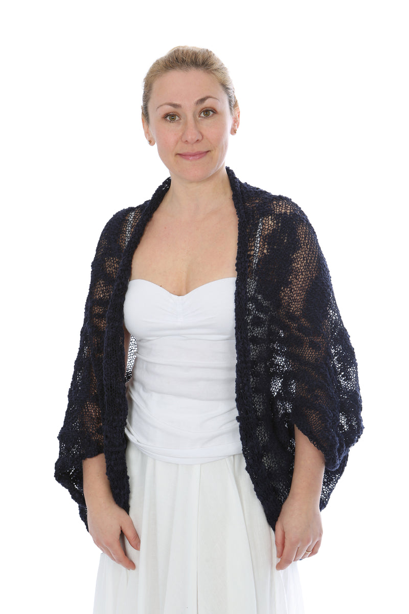 COCOON SHRUG NAVY