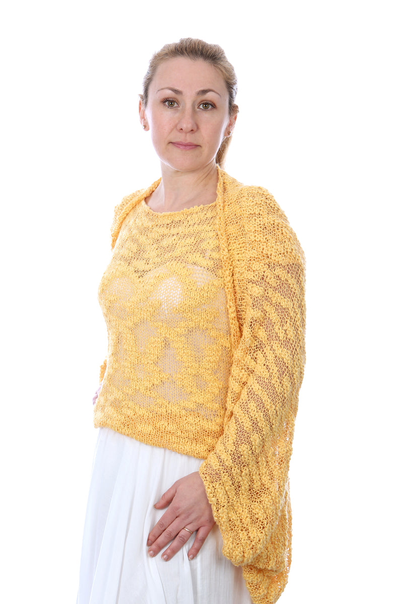 COCOON SHRUG YELLOW