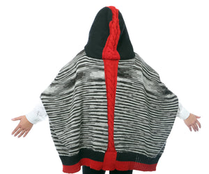 PONCHO/CAPE WITH HOOD