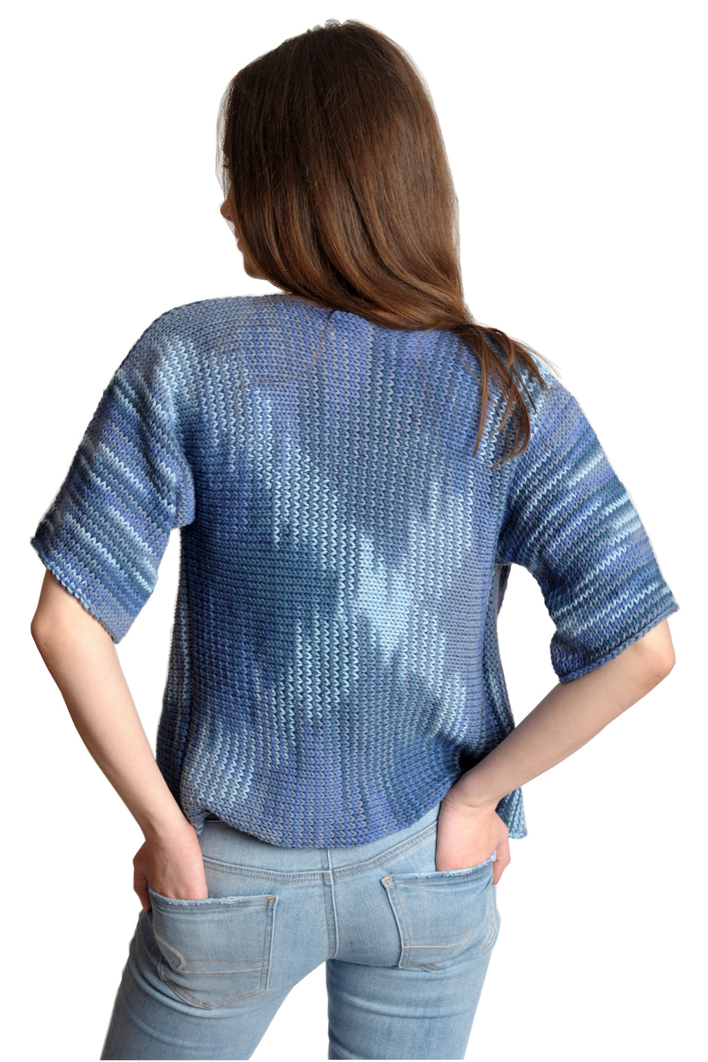 BLUE CAMO COTTON TWISTER TOP
