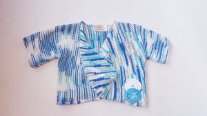 TWISTED TOP FOR GIRLS - BLUE
