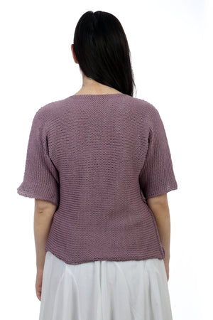 LILAC COTTON TWISTER TOP