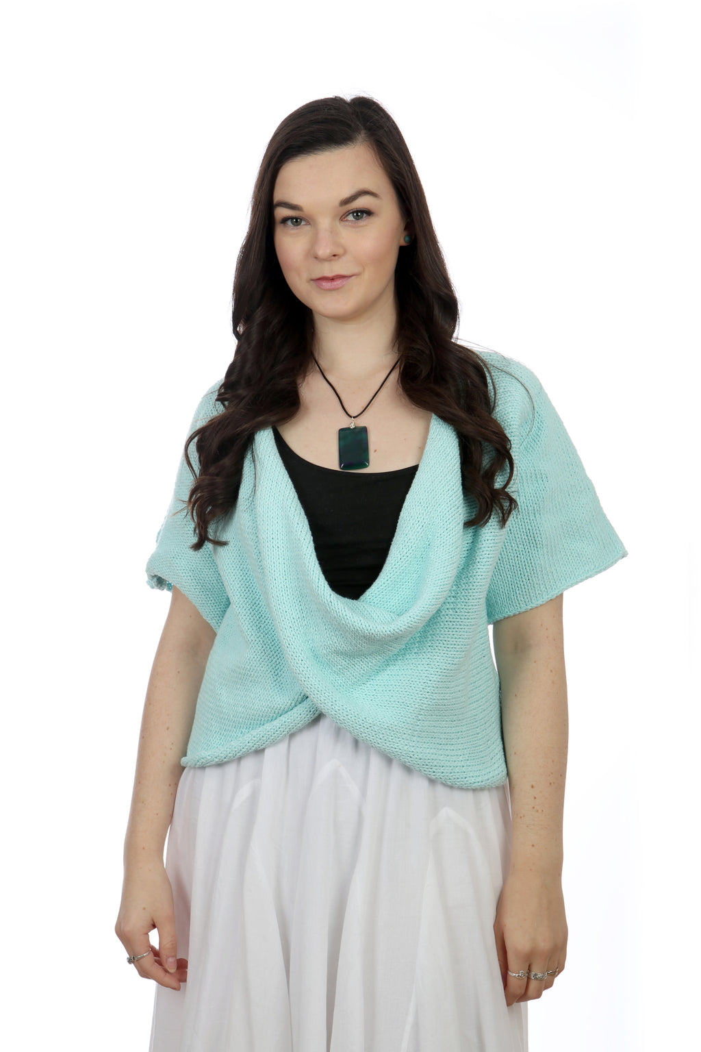 ROBIN-EGG COTTON TWISTER TOP