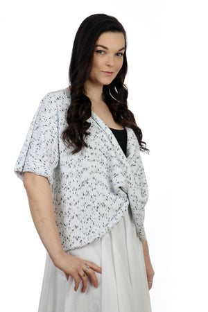 SALT & PEPPER COTTON TWISTER TOP