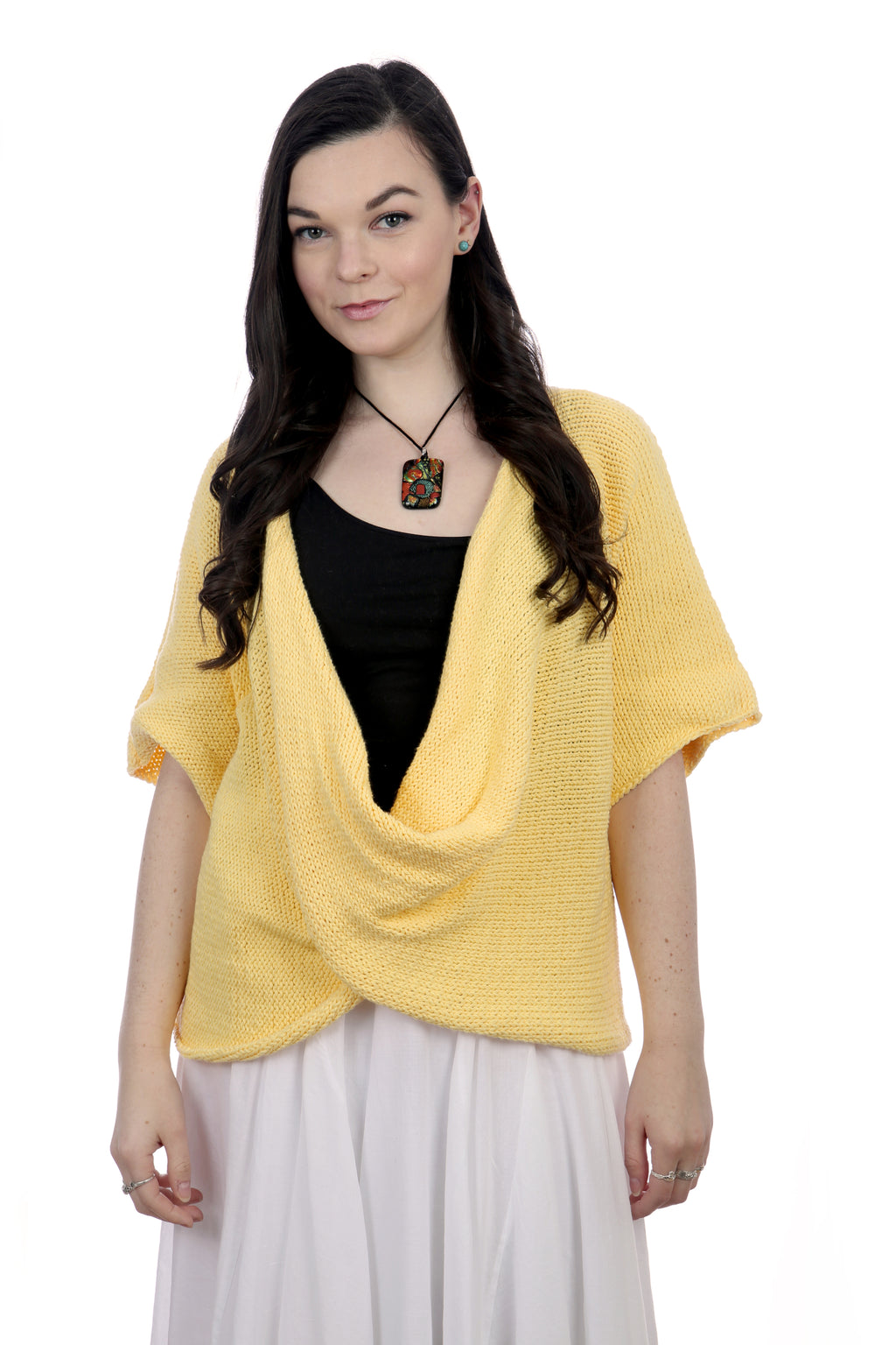 YELLOW COTTON TWISTER TOP