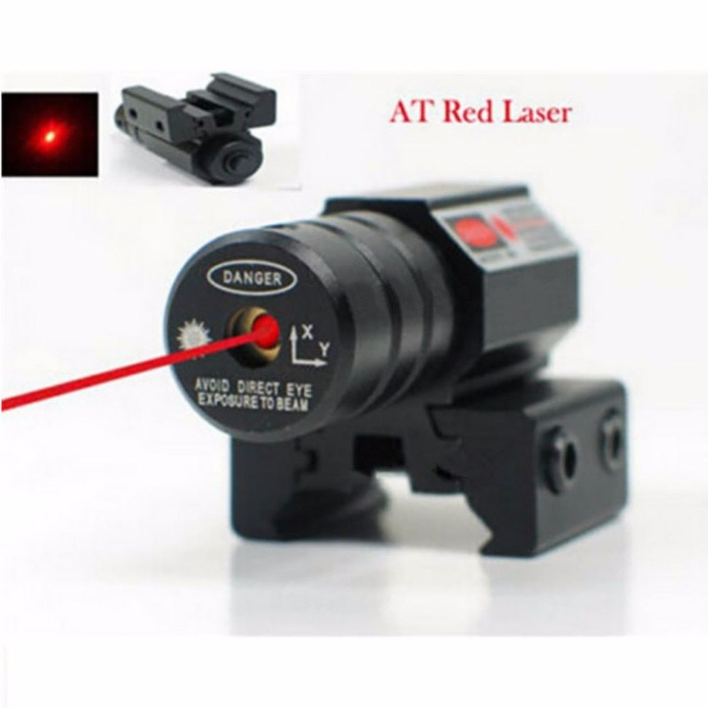 50-100M Range 635-655nm Red Dot Laser Sight Pistol Adjustable 11mm 20mm Picatinny Rail Hunting Accessory New