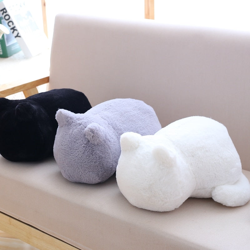 Cute cat fluffy pillow