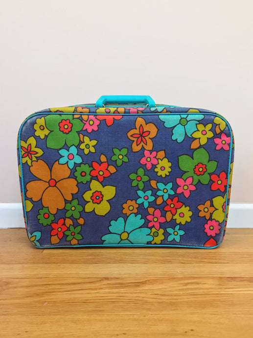 1970s Flower Power Suitcase