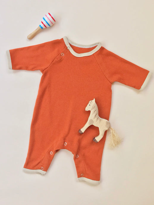 Ribbed Onesie — Persimmon
