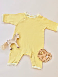Ribbed Onesie — Banana