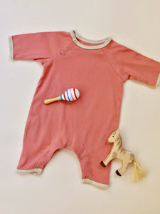Ribbed Onesie — Berry
