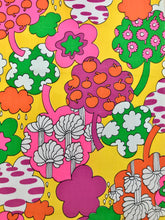 Load image into Gallery viewer, Groovy Rare 1960s Fabric Panel Wall Art